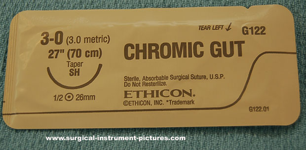 Surgical Suture - 3-0 Chromic SH